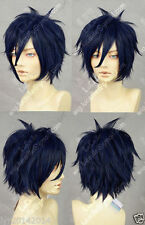 party wigs AonoExorcist Okumura Rin Cosplay Dark Blue Wig