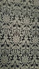 Antique silver grey black medium weight brocade bridal waistcoat fabric