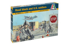 1/35th scale Road Block Checkpoint with US Soldiers set by Italeri ~ 6521
