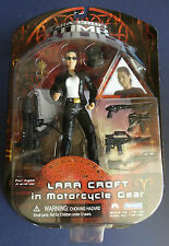 PLAYMATES LARA CROFT TOMB RAIDER IN MOTOR CYCLE GEAR ACTION FIGURE