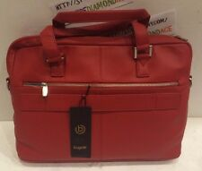 BUGATTI RED SMOOTH LEATHER BRIEFCASE  Style: 49111116 Collection:Manhattan  NEW!