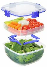Quick Lunch Kit 37 Oz Salad to Go Container BPA Free Microwave Safe FAST SHIP!
