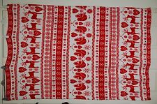 New Holly Berry Red & Snow White Fluffy Bed Blanket Throw Reindeer Doves Xmas