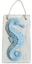 "Seahorse Plaster Wall Plaque 6"" Wood Resin Hanging Art Sea Horse Figure Sign"