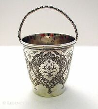 Antique Persian Isfahan Middle Eastern Solid 84 Silver Islamic Cup/Basket/Beaker