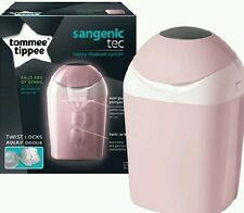 Tommee tippee sangenic baby nappy système d'élimination poubelle bac + 1 cassette neuf! rose