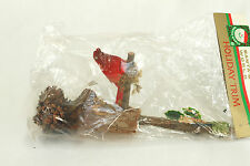 Vintage Rustic Red Bird Birdhouse Christmas Ornament Holiday Tree Decoration 7x3