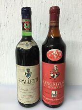 Spalletti Chianti Rufina 1982 - Sangiovese Di Romagna 1973 Ag.Riola Terme