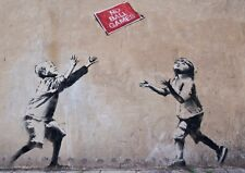 Banksy Poster - Print No Ball Games -  Graffiti art **FREE DELIVERY**