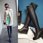 Womens Ladies Fashion Wedge High Heel Over Knee Boots Shoes AU Size 3.5--10 B264