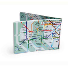 Green London Underground Tube Map Oyster Card Travel Card Wallet
