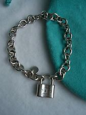 "TIFFANY & CO. ""1837"" COLLECTION LOCK CHARM BRACELET!!!"