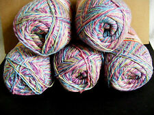 """5 Skeins---  """"TOFUTSIES"""" Beautiful multi-colored YARN-5 IN A DEAL!  Don't MISS !"""