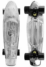 "Mayhem Cruiser Board 22""  Skateboard Chrome Black NEW"