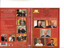 This Is Your Life:Aussie Sports Legends-1975/2013-TV Series Australia-5 Epis-DVD