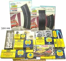 13pc Aurora Model Motoring Slot Car Lock & Joiner Style TRACK ASSORTMENT Lot 320