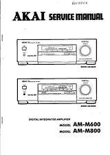 Akai Original Service Manual für AM-M 600 und AM-M 800