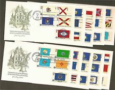 #1633-82 13c State Flags -Set of 50 on 10 Artmaster FDCB4+1