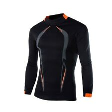 Mens Long Sleeve Thermal Cycling Jersey Outdoor Training  Biking Sports Shirts