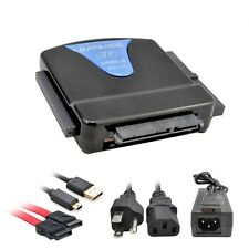 """USB to SATA IDE 2.5"""" 3.5"""" External HDD Drive Converter Adapter Cable Power"""