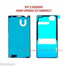 KIT 2 ADESIVI BIADESIVI TOUCH SCREEN E BACK COVER DI RICAMBIO XPERIA Z3 COMPACT