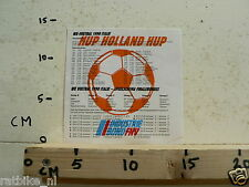 STICKER,DECAL HUP HOLLAND HUP WK VOETBAL 1990 ITALIE VOETBAL SOCCER