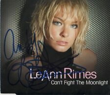 """LeAnn Rimes Autogramm signed CD-Cover """"Can´t Fight The Moonlight"""""""