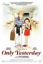 "ONLY YESTERDAY 18""x26"" Original Promo Movie Poster MINT Animation Studio Ghibli"