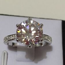 3 ct (9.5mm) Created Diamond in Solid 925 Silver Engagement Wedding Ring Size 8