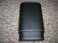 Rockwell 3 Finger Cigar Case, Black Leather, Cedar-Lined - New in Box