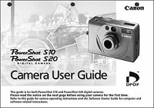 Canon Powershot S20 Digital Camera User Guide Instruction  Manual