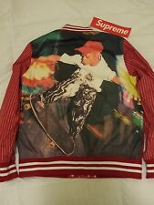 SUPREME x Comme des Garcons Reversible Varsity Baseball Jacket Red M S/S 14