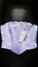 Lilac strapless top size 16