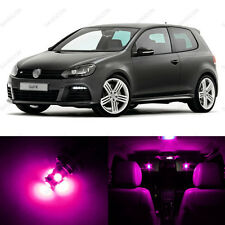 11 x Pink/Purple LED Interior Light Package For 2010 - 2013 VW Golf GTi Mk6