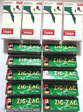 4 x SWAN MENTHOL EXTRA SLIM Tips(480) & 10 Booklet of ZIG ZAG GREEN PAPER(500)