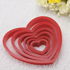 Love Heart Cookie Biscuit Fondant Cake Cutter Decorating Tool Mold Sugar Crafts