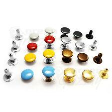 Single cap rivets 6 7 9 or 11 mm cap diameter Studs Leather craft rapid rivets