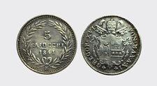 BOLOGNA - GREGORIO XVI 1831-1846 -AG/ 5 BAIOCCHI 1841   RARA !