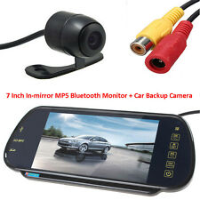 "420TVL CCD Reverse Backup Camera+ 7"" MP5 Bluetooth Car Rearview Mirror Monitor"