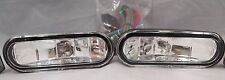 "5"" RECTANGLE CAR TRUCK SUV HALOGEN FOG LIGHTS SUPER WHITE KIT SET PAIR WIRING"