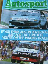 MOTORSPORT MAGAZINE SUPPLEMENT 1983 PETER LOVETT ROVER VITESSE JEFF ALLAM POND