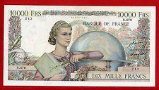 (Ref: N.670) 10000 FRANCS GÉNIE FRANÇAIS 26/01/1950 ( TTB+) DATE RARE APLATI