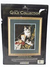 DIMENSIONS THE GOLD COLLECTION CATS CAPTIVATING FELINES Counted Cross Stitch Kit