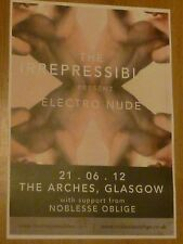 The Irrepressibles Glasgow 2012 tour concert gig poster