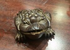 Color Changing Brown to Gold Feng Shui Money Lucky Chinese Wealth Coin Frog Toad