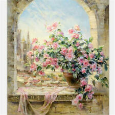 "16x20"" Flower Art Paint By Number Digital Oil Painting Picture Printed On Canvas"