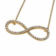 "Park Lane ""INFINITE"" Infinity NECKLACE - E Hollywood SILVER & Crystal  Orig $53"