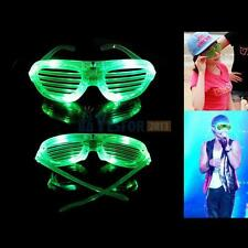 Green LED Shutter Glasses Light Up Sunglasses Shades Rave Wedding Party Supplies