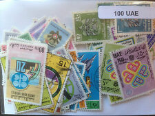 100 Different United Arab Emirates (only) Stamp Collection