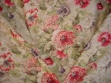 13+y TPSA COVINGTON 5TH AVENUE POPPIES FLORAL LINEN DRAPERY UPHOLSTERY FABRIC